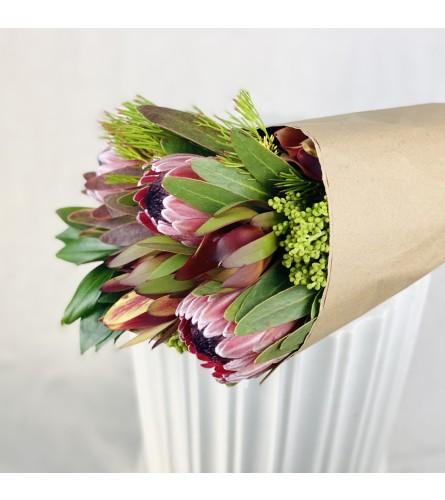 Pedro Point Protea Wrapped Bouquet
