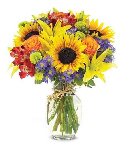 European Garden Bouquet of Colors