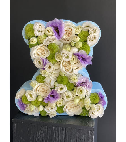 Flower Blue Bear