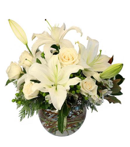 White Luxury in a Vase