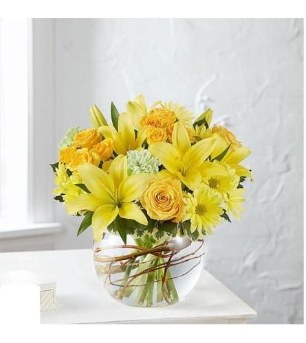 Smiling surprise arrangement