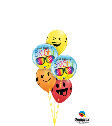 Big Smile Grad Classic Balloon Bouquet