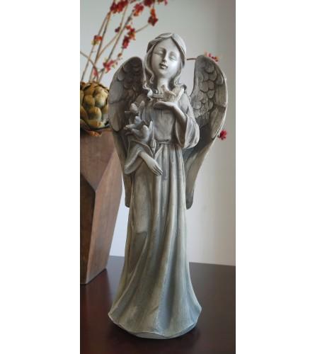 Ceramic Angel Holding Flowers