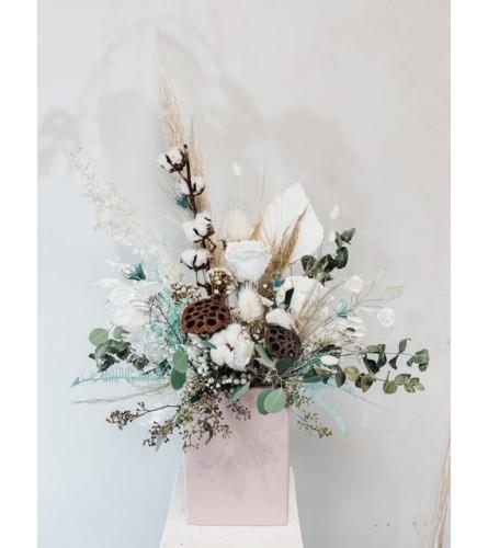 Winter Snow - Preserved Floral Arrangement
