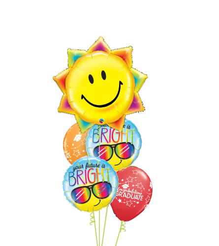 Your Future Is Bright Cheerful Balloon Bouquet