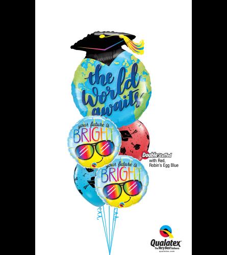 The World Awaits Cheerful Balloon Bouquet