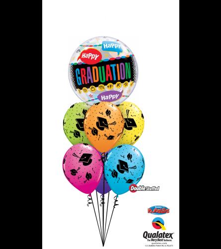 Graduation Celebration Bubble Balloon Bouquet