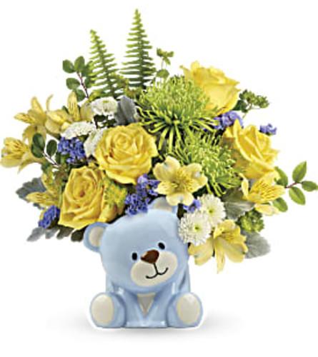 The Joyful Blue Bear Bouquet
