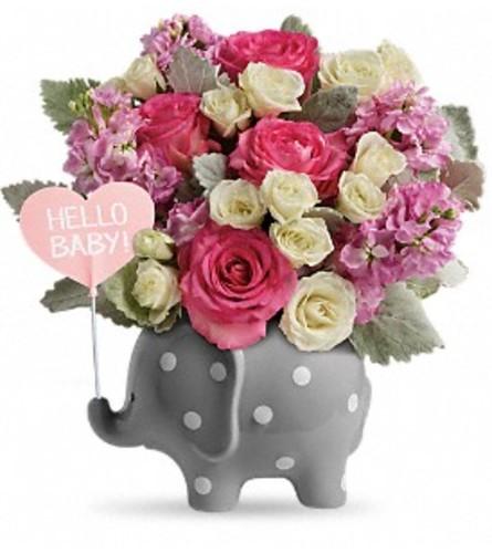 Hello Sweet Baby - Pink Elephant