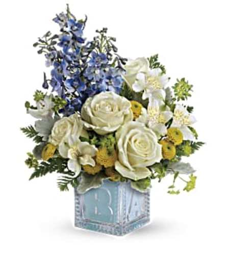Welcome Little One Bouquet - Blue