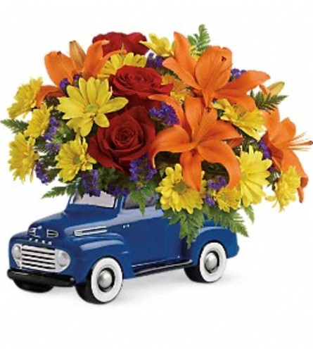 The Vintage '48 Ford Pickup Bouquet