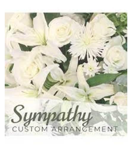 Sympathy Arrangement in white