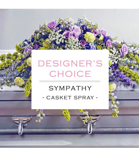 Designer Choice Sympathy Casket Spray