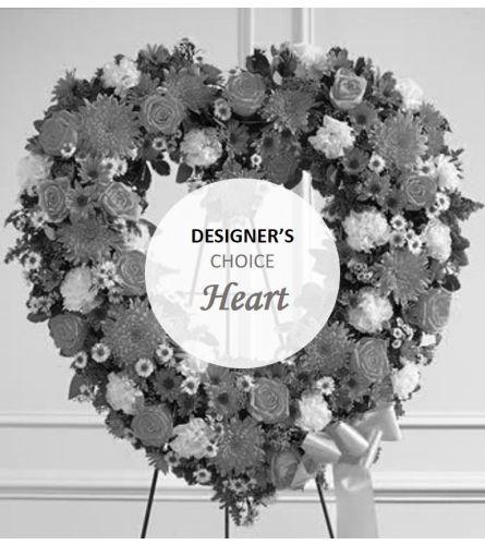 Sympathy designer choice standing heart