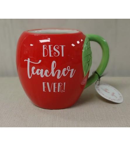 Best Teacher Ever Apple Mug
