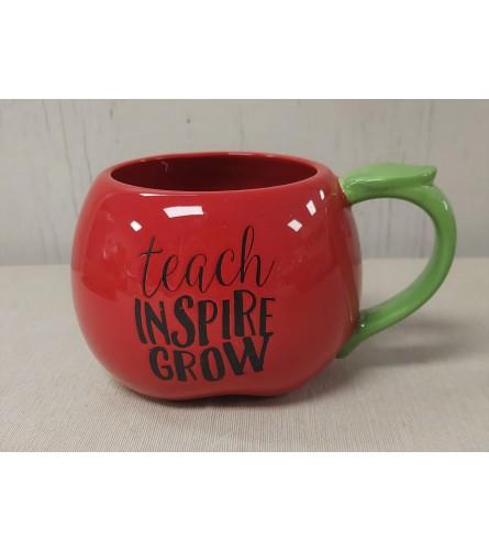 Teach Inspire Grow Apple Mug