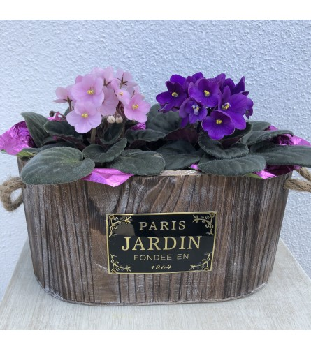Blooming French Garden Planter