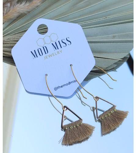 Mod Miss Gold Drop Earrings