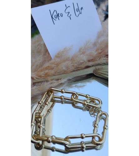 Koko & Lola Gold Ball Chain Link Bracelet