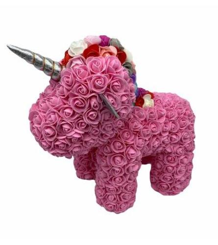 Pink Rose Unicorn.Have a question?Call Us (718)748-3733