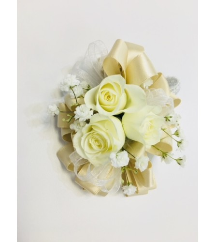 Silver and Gold Corsage