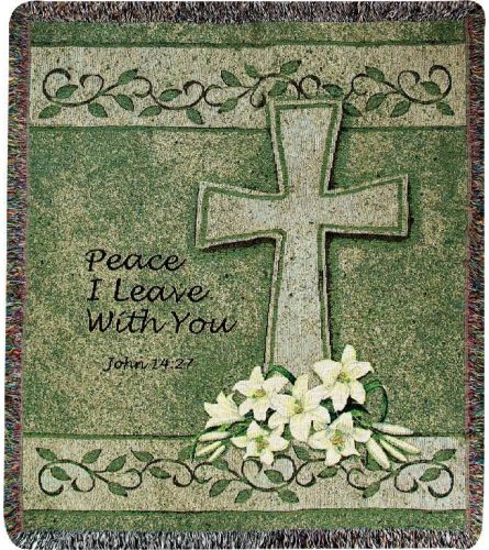 PEACE I LEAVE WITH YOU THROW