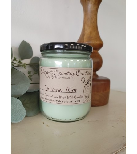 Elegant Country Creations Candle - Cucumber Mint