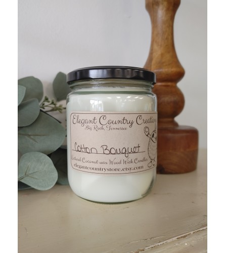 Elegant Country Creations Candle - Cotton Bouquet