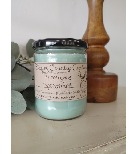 Elegant Country Creations Candle - Eucalyptus Spearmint