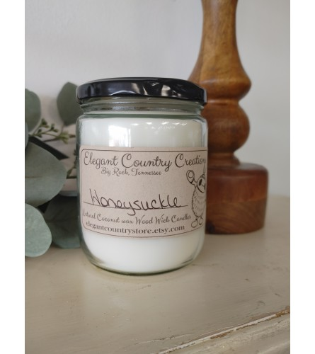 Elegant Country Creations Candle - Honeysuckle