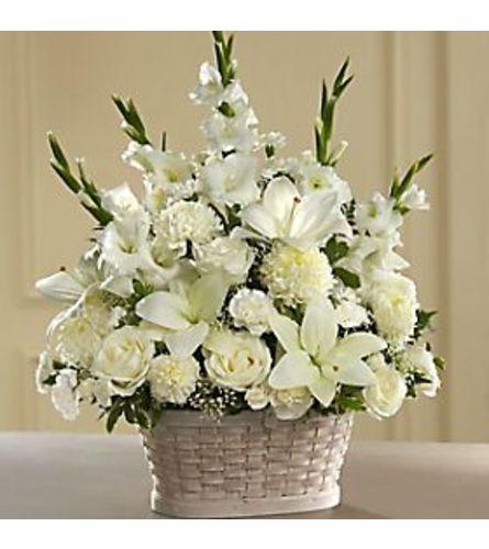 FTD® Ivory Elegance Floral Basket