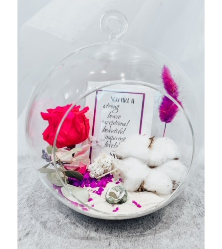 Blessed Woman - Preserved Rose Globe