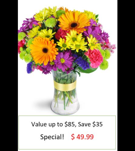 Radiant Rainbow Bouquet Special !