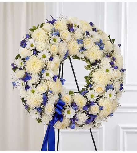 Standing Wreath- Blue and White