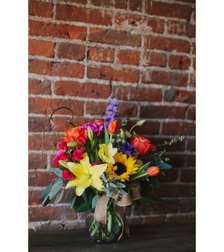 """""""Medium Vase"""" Designer's Choice Spring Assortment in Bold Colors"""