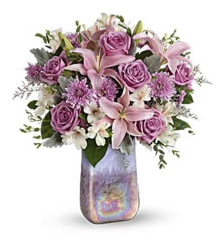 Stunning Swirls Art Glass Bouquet