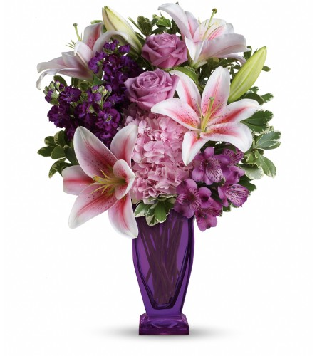 Our Blushing Violet Bouquet