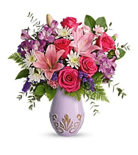 Lavishly Lavender Vase
