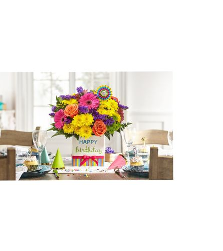 Birthday Gift Box Bouquet