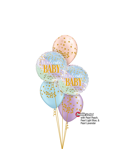 Welcome Baby Classic Confetti Balloon Bouquet