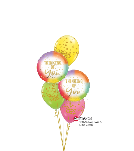 Thinking of You Classic Confetti Balloon Bouquet