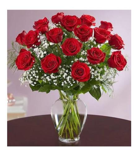 Rose Elegance™ Premium Long Stem Red Roses Bouquet