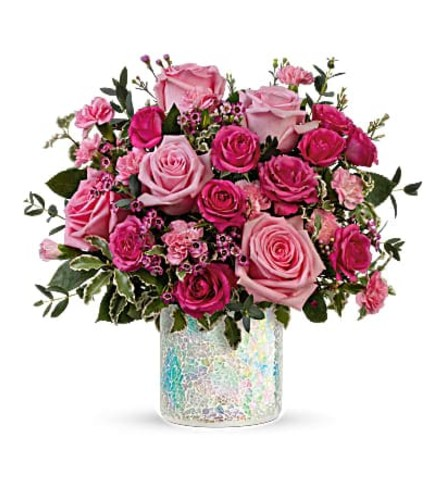 TELEFLORA'S GORGEOUS GLIMMER BOUQUET OF FLOWERS