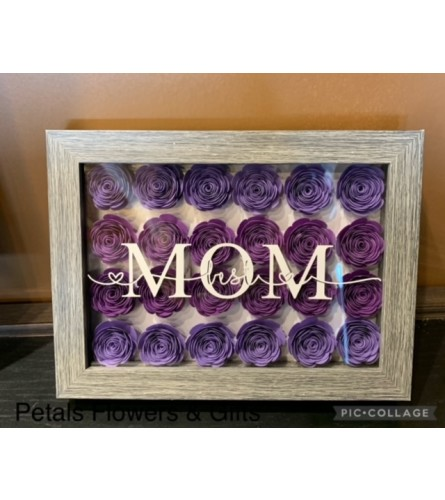 Purple Mother's Day Shadow Box