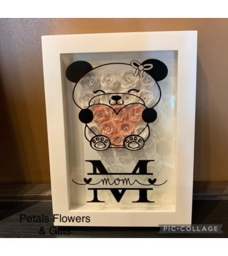 Mum Bear Rose Shadow Box