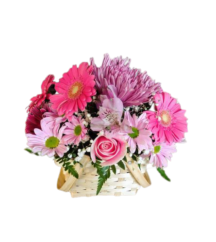All About Mom Basket Of Flowers