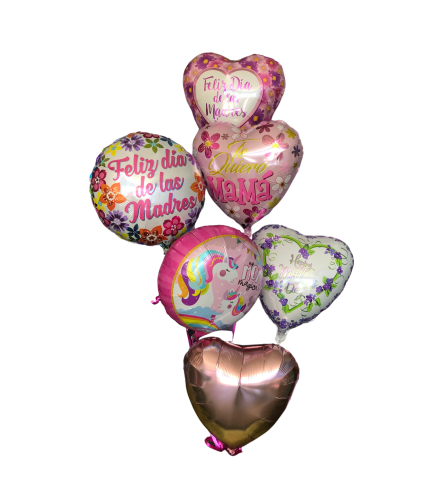 Spanish Mother's Day balloon bouquet