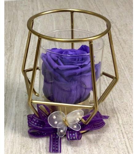 Purple Everlasting Treasure (Preserved Rose)