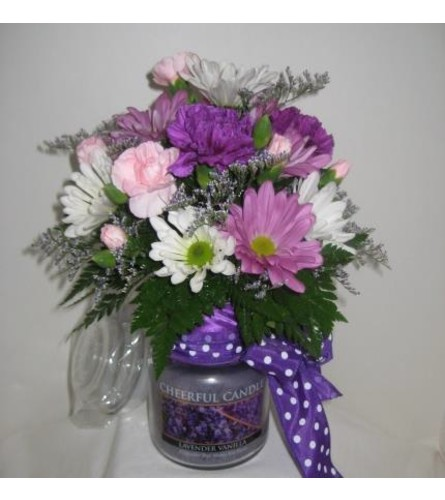 Medium Cheerful Giver Candle Bouquet