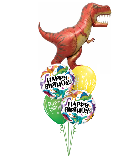 Have a Roarsome Birthday Cheerful Balloon Bouquet